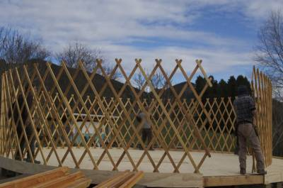 Yurt lattice walls