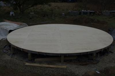 Yurt plywood floor